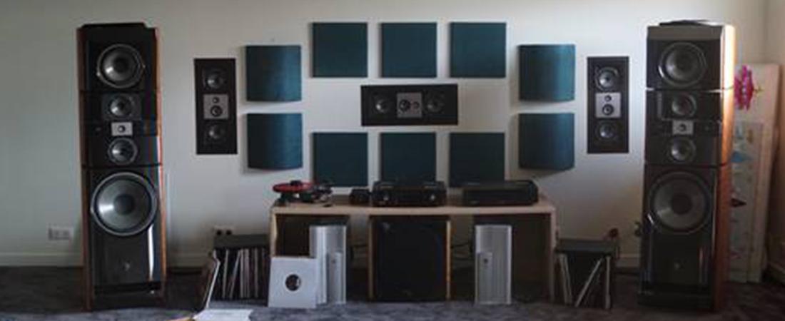 Salle d'écoute d'audiophile