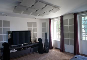 panneaux acoustiques suspendus