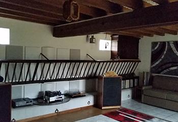 réalisation de traitement acoustique dans un salon