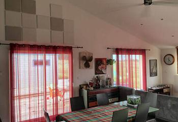traitement acoustique d'un salon avec panneaux PYT Audio