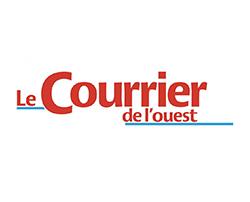 """Logo """"Le courrier de l'ouest"""""""