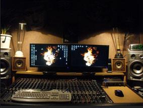 Home studio professionnel non traité acoustiquement