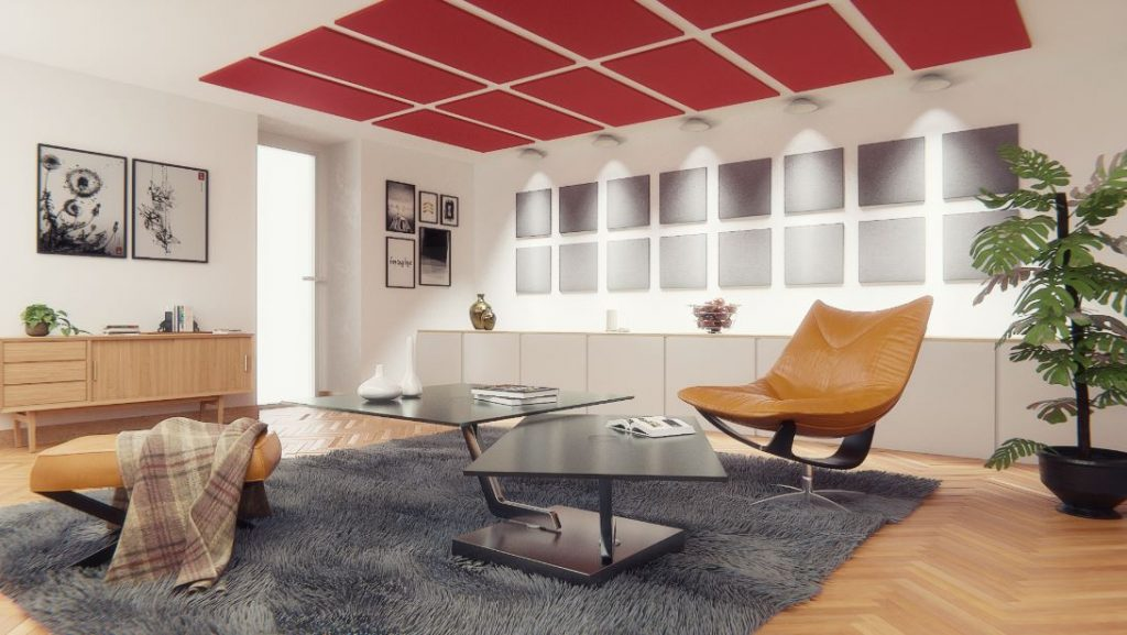 ° couleur ° Isolation acoustique mousse acoustique studio Insonorisation