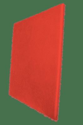 Panneau acoustique rouge clair