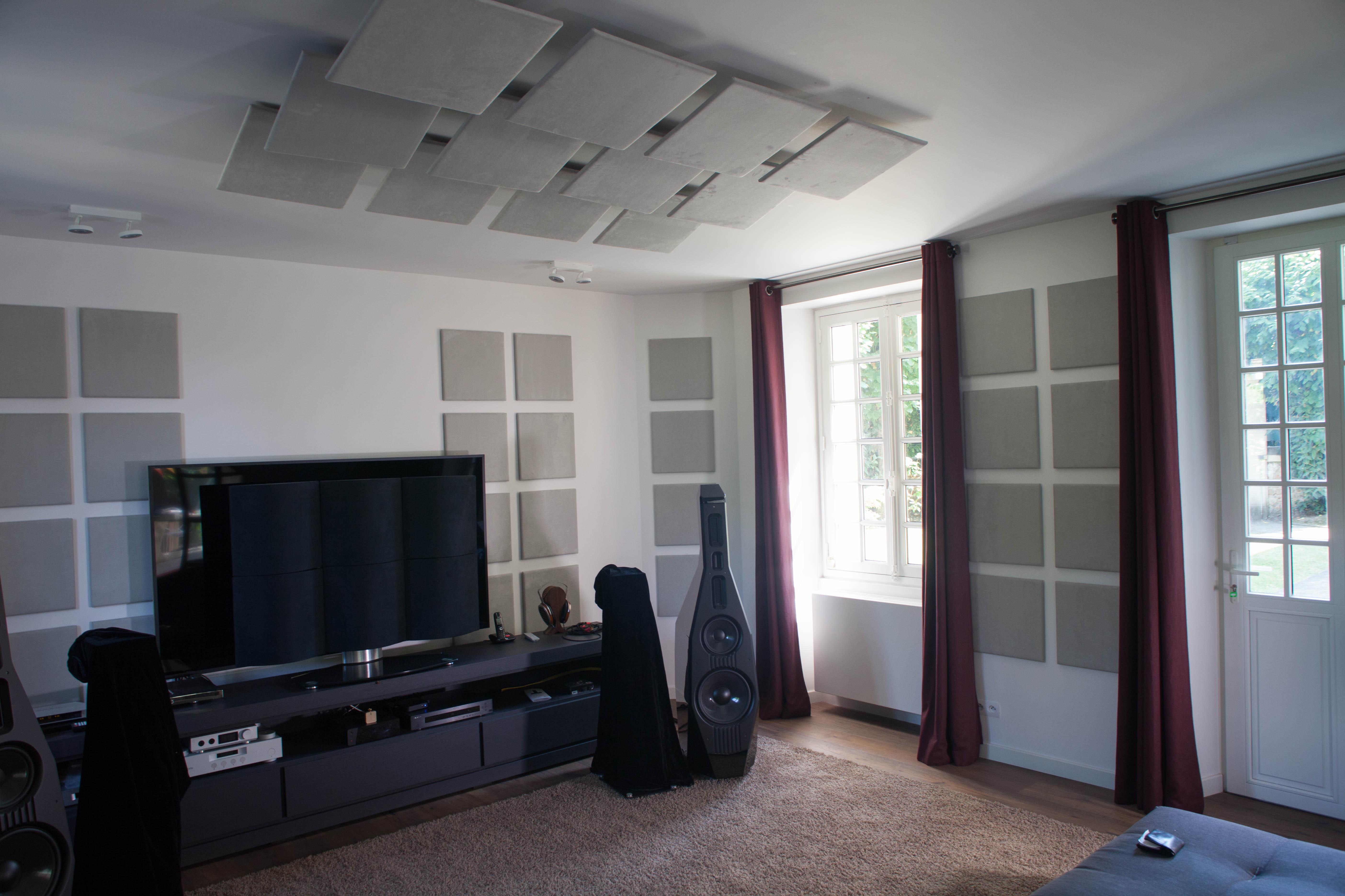 Panneau Mural Derriere Tv obtenir une salle d'écoute pour audiophile et amateur de hi